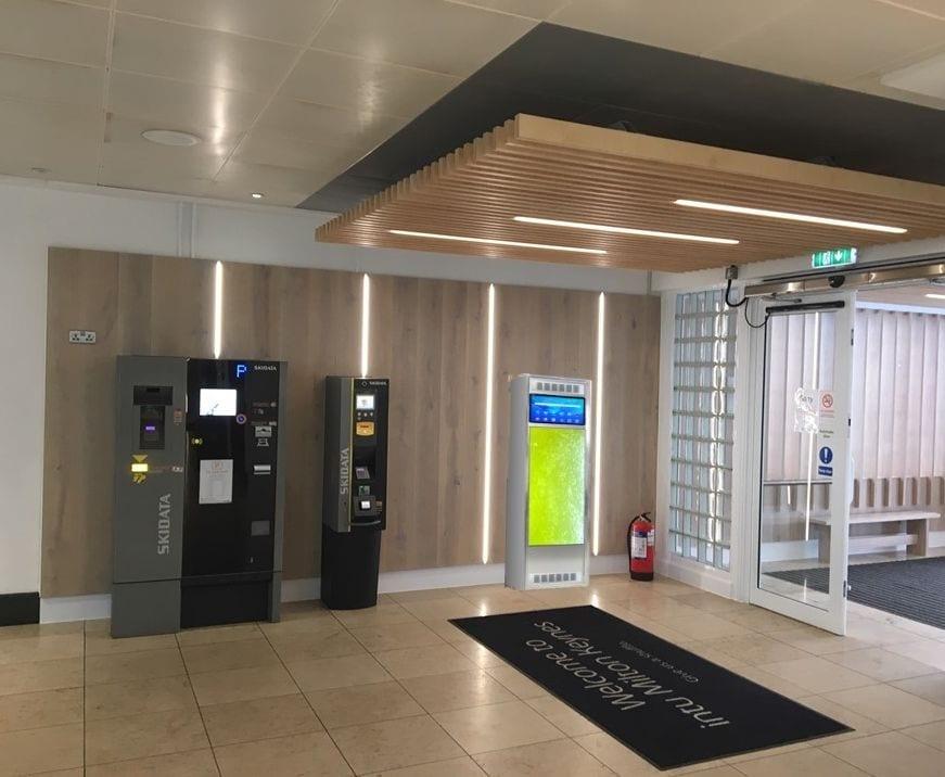 WOOFAA Smart Algal Oxygen Bar in Carpark Lobby