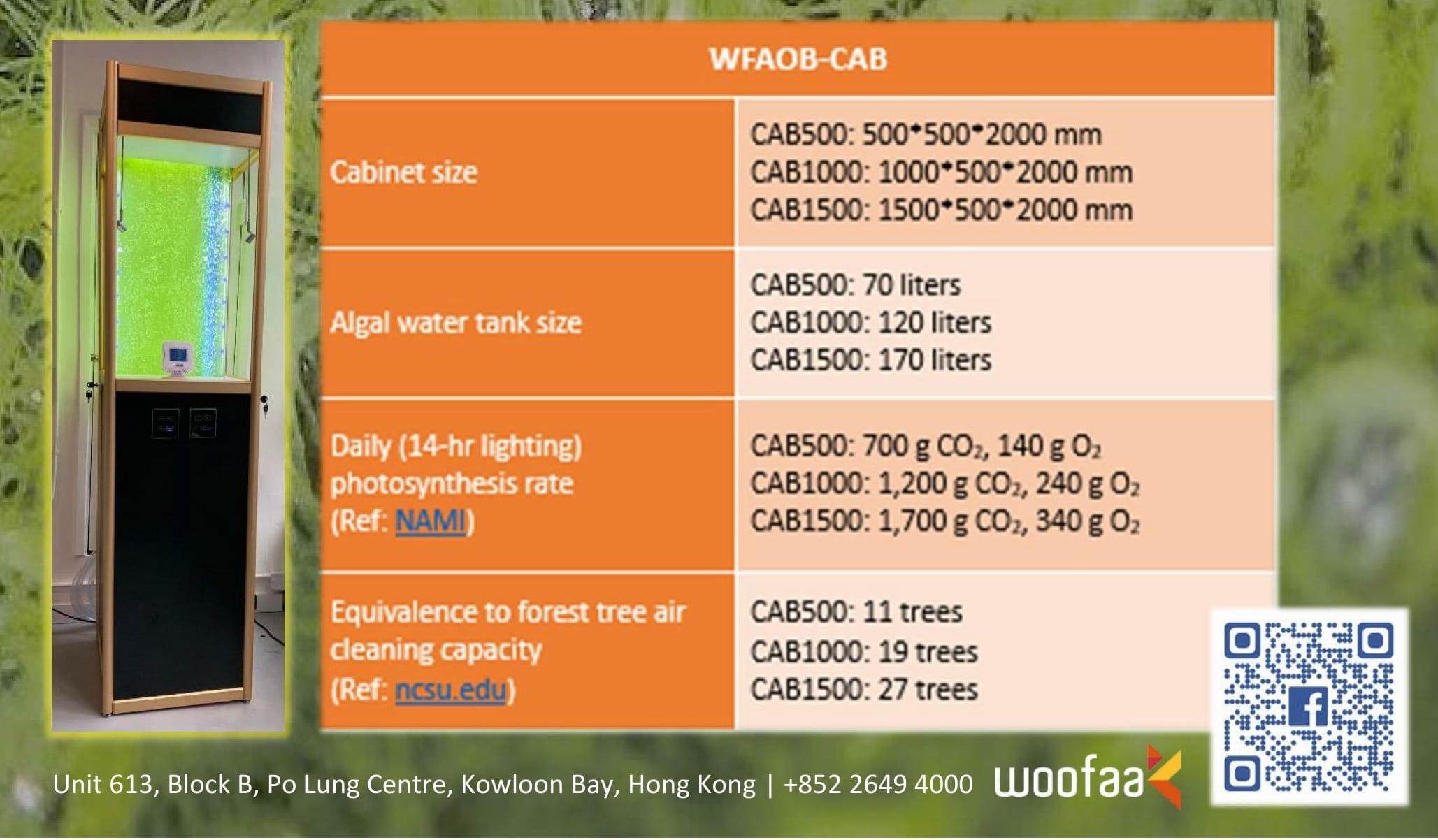 WOOFAA Algal Photosynthetic Smart IoT+IAQ Appliance