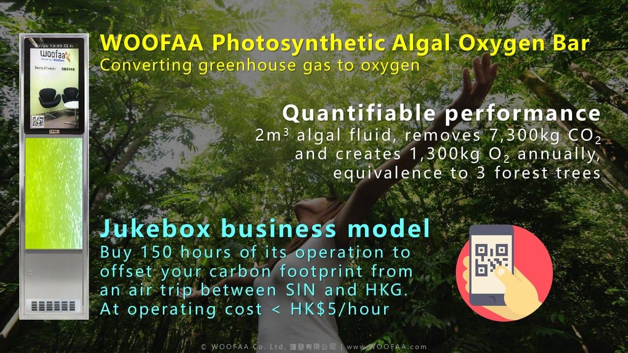 WOOFAA Photosynthetic Algal Oxygen Bar Jukebox Business Model