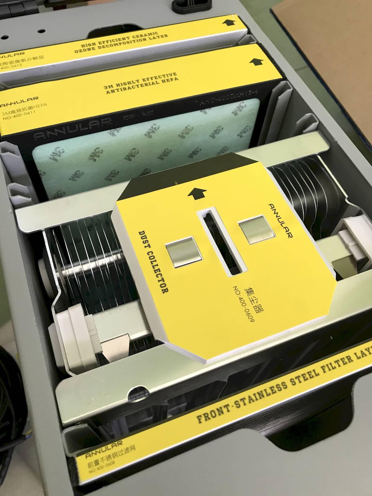 Ceiling-mounted Air Sterilizer UVGI Electrostatic Precipitation Washable
