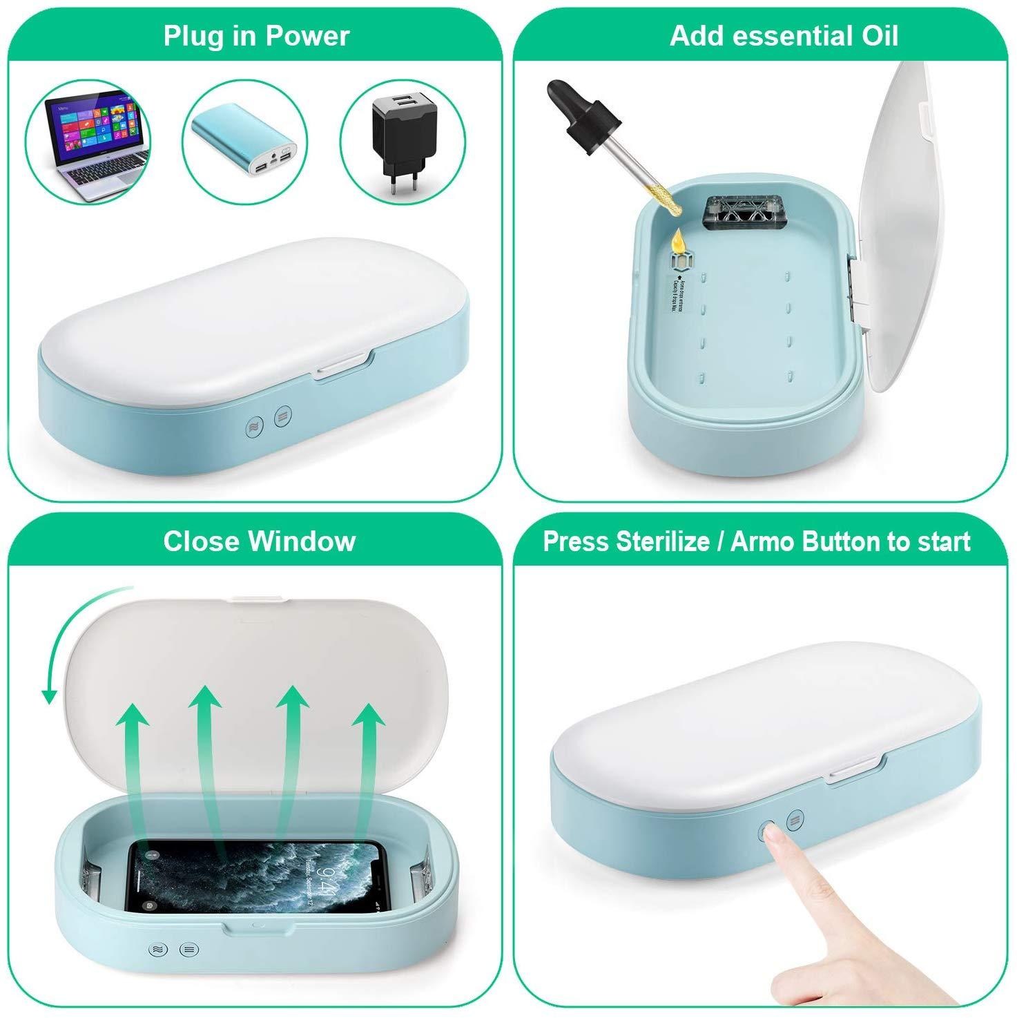 UVGI Smartphone Sterilizer Glasses Sanitizer